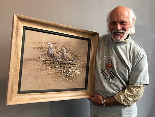 Turtle Dove Conservation Auction Painting