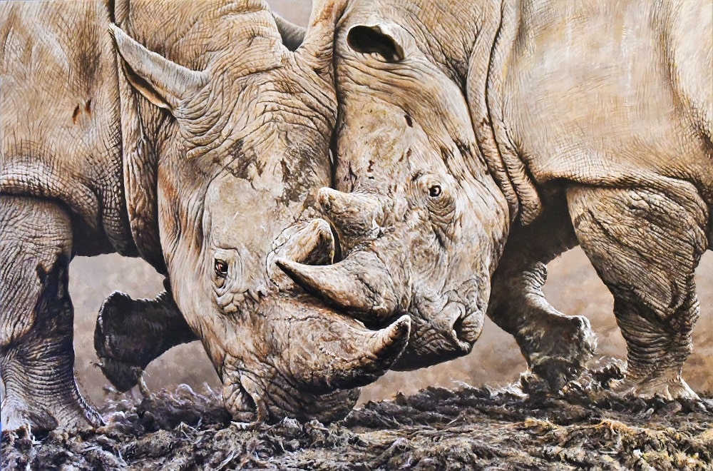 Original Rhino Painting