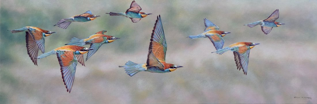 Migrating Bird Painting