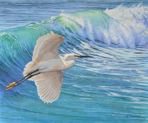 Little Egret Bird Painting