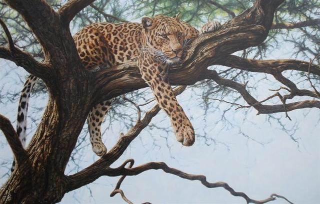 Original Leopard Painting for Sale