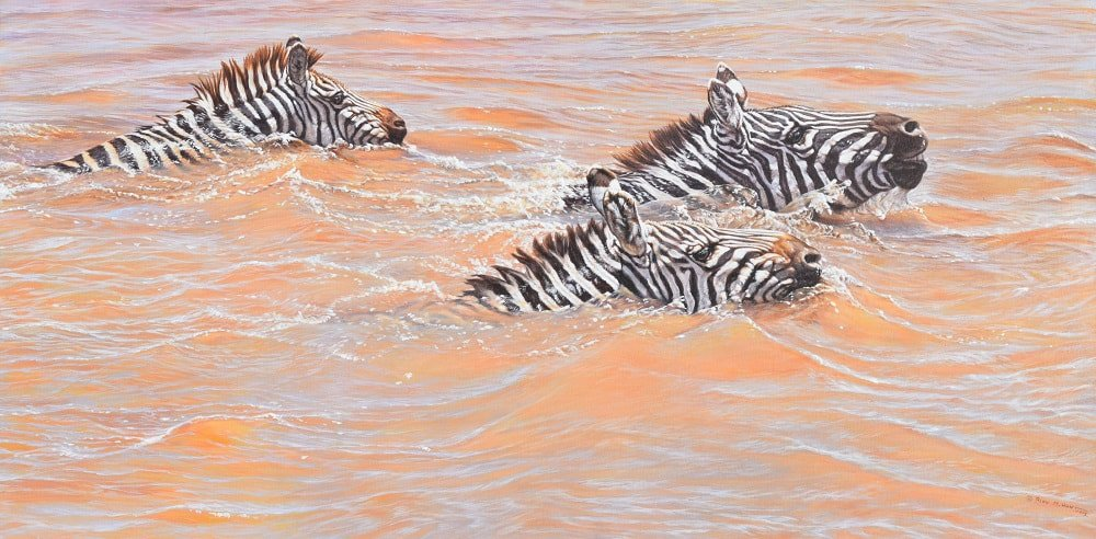 Paintings of Zebras